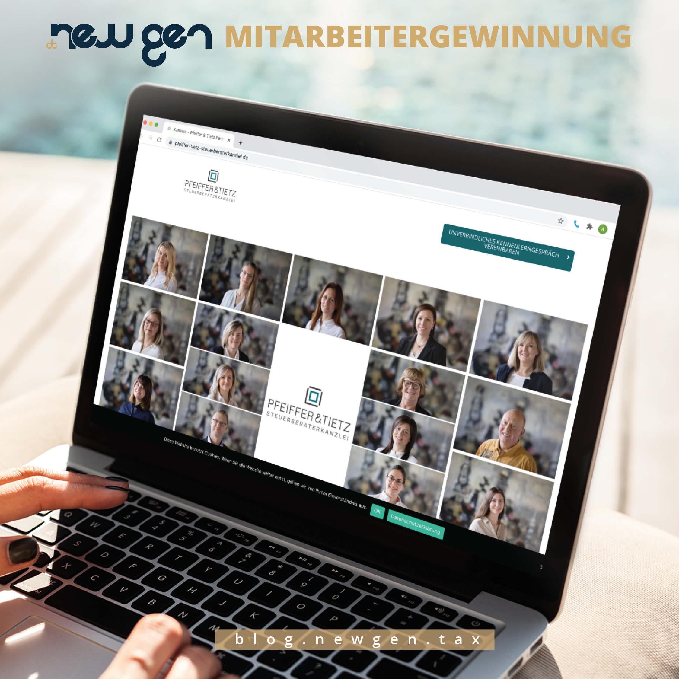 newgen Mitarbeitergewinnung – Steuerkanzlei Pfeiffer & Tietz