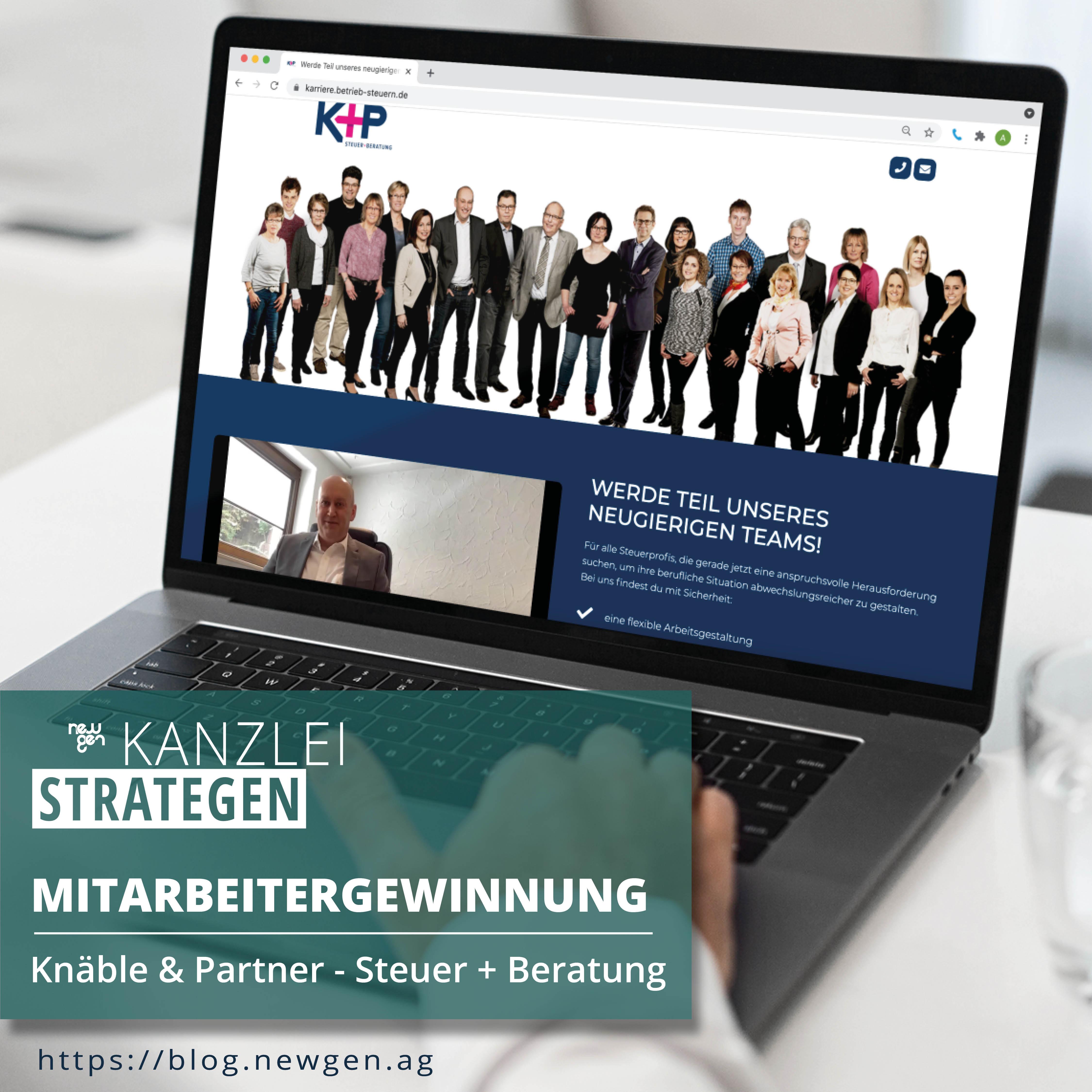 newgen Mitarbeitergewinnung – Knäble & Partner – Steuer + Beratung